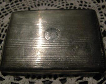 Old Metal Cigarette Case with Inside Swing Arm Upcycle Use or Craft Paint Renew Free USA Shipping and Tracking is included in Price