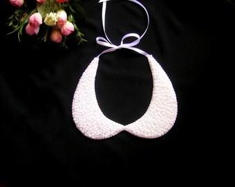 Peter pan collar necklace, wedding pearl necklace, bridal pearl jewelry, bridal necklace, pearl necklace , bridesmaid necklace