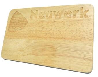Bread Board Neuwerk engraving breakfast Board Hamburg - breakfast board - engraving