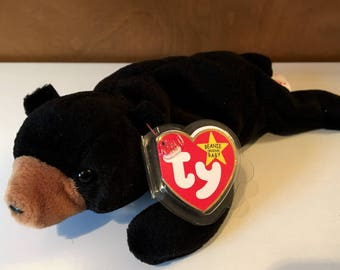 Blackie, the black bear Beanie Baby