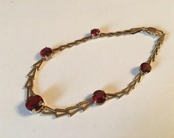 Garnet and Gold bracelet.