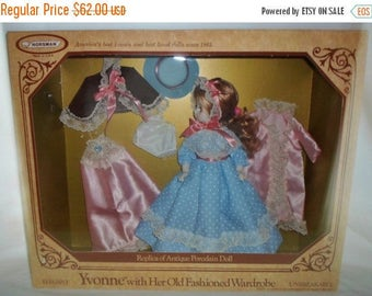 ON SALE NIB 1979 Horsman Yvonne With Her Old Fashioned Wardrobe, Replica Of Antique Porcelain Doll, Unbreakable, Made In Usa, Boxed Set, Min
