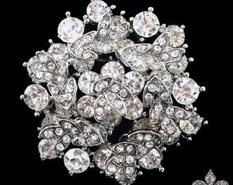Rhinestone Brooch Pin - Rhinestone Crystal Brooch - Rhinestone Brooch - Christina Brooch