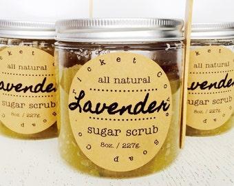 Lavender Sugar Scrub - body scrub - hand scrub - lip scrub