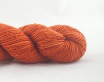 Hand Dyed Superwash Merino DK Yarn Orange