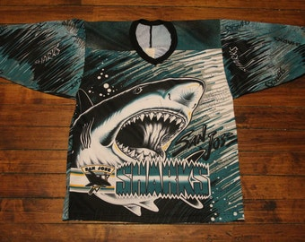 San Jose Sharks Jersey vtg NHL hockey jersey CCM jersey medium