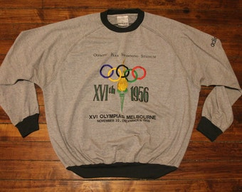 adidas olympics sweatshirt heather gray 1956 melbourne olympic centennial collection XL