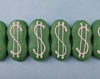 MONEY MONEY MONEY! Dollar Sign Nutter Butter Cookie Party Favor graduation party banker gift finance broker business ideas by PlainOldeJane