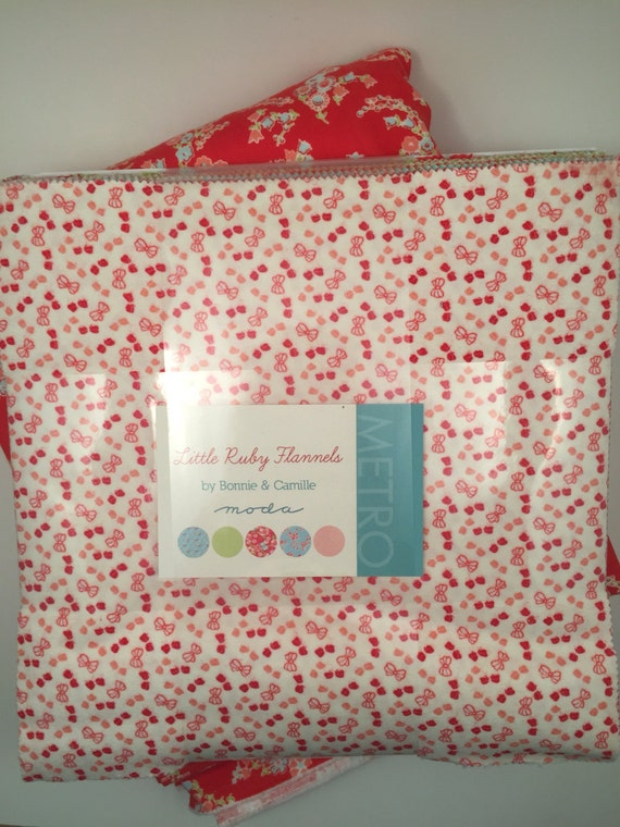 Layer Cake Rag Quilt Kit with Little Ruby Flannels from Bonnie & Camille for Mids