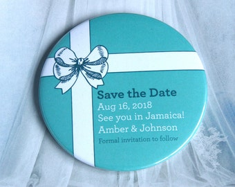 Tiffany Bow design - Save the Date Magnets x 40