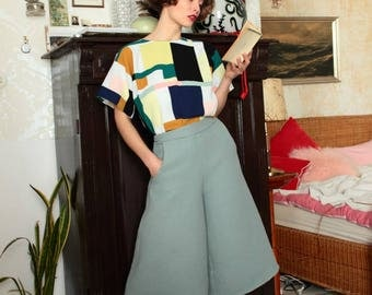 Culotte pants, pants, summer pants, Summer pants, Culottes, cotton trousers, cotton pants