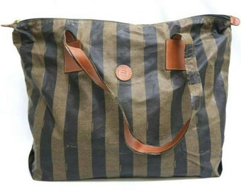 Large Fendi striped iconic bag vtg