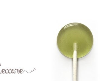 6 Pistachio & Wasabi Lollipops // Spiced Lollipops // Ginger Candy // Green Wedding Favors // Unique Wedding Favors