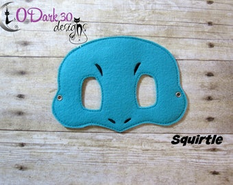 Squirtle Pokemon Inspired Childrens Dress Up Mask