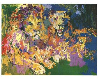 Leroy Neiman-Lions Pride-1977 Poster