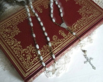 Antique 1930s Glass Rosary