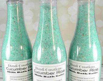 Cucumber Aloe milk bath salts-bath-sea salt-goats milk-relaxation gifts-wholesale bath salts-oatmeal-teacher gift-gift women-gift for her-