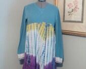 Upcycled babydoll dress/tunic..junk gypsy boho tunic..L-XL..hippy babydoll top..urban prairie tunic..boho tunic..shabby chic tunic..artsy