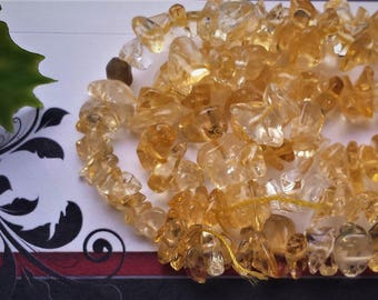 """SALE Citrine Chip Bead Strands, 5~8 mm; about 16"""""""