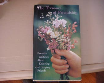 1968 Small Book Poetry The Treasure of Friendship Favorite Writings about enjoying and Keeping friends Hallmark Book