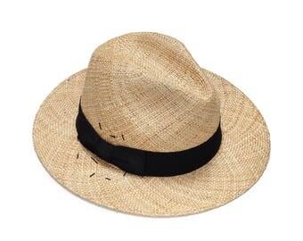 embroidered Fedora straw hat , Fedora straw hat for women, straw hat for men, Summer hats , Sun Hat , Ethnic straw hat , Fashion hat