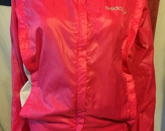 Adidas hot pink and light gray windbreaker  jacket