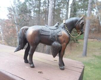"Pot Metal Carnival Horse Figurine, Pot Metal Carnial Souviner Horse Figurine 4"" tall"