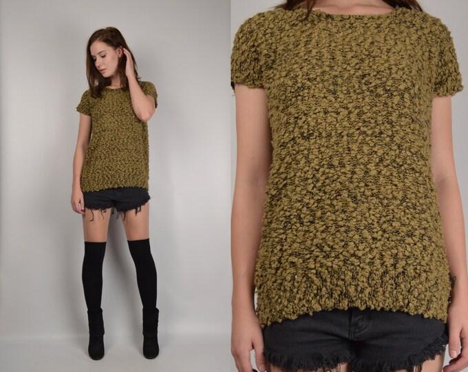 20% OFF 80's Moss Sweater grunge vintage