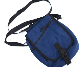 Eddie Bauer Crossbody Bag, Blue Vintage Bag, Canvas Bag, Dark Blue Travel Bag, Navy Blue Bag, Men's Bag, Women's Bag, Unisex Bag, Long Strap