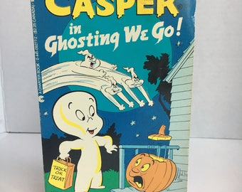 Vintage The Friendly Ghost Casper in Ghosting we go! Retro Trick or Treat Halloween. Harvey World Famous Comics, 1984 Boo