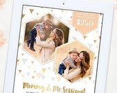 SALE Mommy and Me Mini Session Template, Mommy and Me Template, Mini Session Template, Photography Marketing Template, Marketing Board AD178