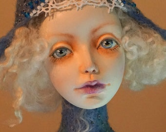 July 10% SALE! ooak Art Doll WINTER FAIRY