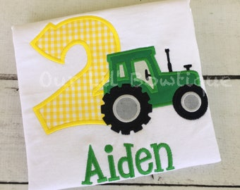 Tractor Shirt - Tractor Birthday Shirt - Boys Tractor - Birthday Shirt - Tractor Birthday Party - Girls Tractor Birthday  - Farm Birthday