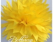 Tissue Paper Pom Poms: Buttercup-- Or Choose Your Colors-- Baby Shower/ Nursery/ Bedroom/ Party Decorations tissue pom
