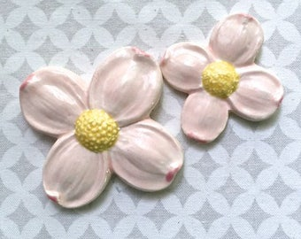 2 Dogwood Blossoms - Ceramic Tiles - Mosaic Supply