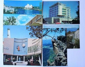 Australian Vintage Photo Postcards x 8, Colour, 1960s - Vintage Postcards, Australian Cities, Tourism, Scenic Postcards, 1960s Cars
