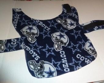 "Small - Dallas Cowboys NFL Winter Fleece Dog Coat (Length 14-16"")"