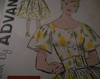 SALE Vintage 1960's Advance 9357 Dress Sewing Pattern, Size 16 Bust 36