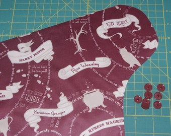 Baby One-Size Pocket Diaper / OS Cover / Swim Diaper in Wandering Feet Marauder Map PUL - Custom Order
