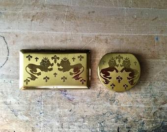 Vintage Elgin America Cigarette Case, Vintage Elgin Compact, Collectible Tobacianna, Gold Tone Compact, Vintage Compact, Ladies Accessories