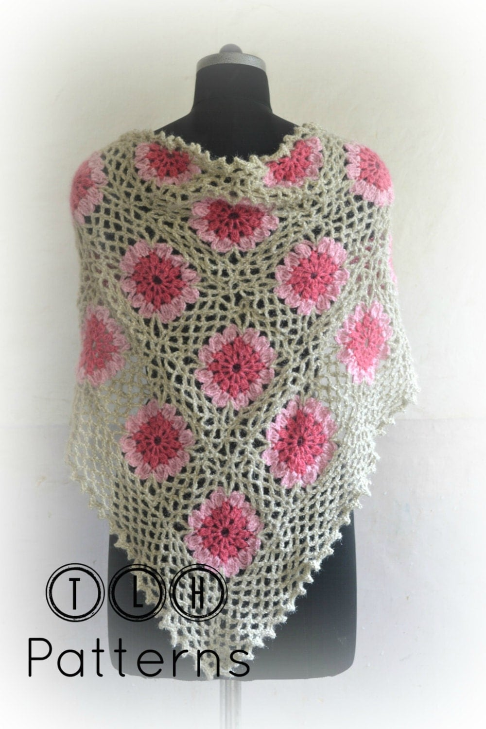 Crochet pattern crochet shawl pattern crochet triangle zoom bankloansurffo Image collections
