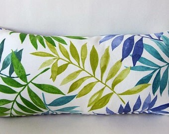 Tropical Pillow, Hawaiian Pillow, Palm Leaf Pillow, Outdoor Lumbar Pillow, Beach Pillow Cover, Lumbar Pillow Cover, Decorative Pillow,
