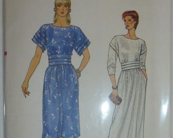Vintage 1980's Vogue Pattern 8737   Size 12 Misses Dress
