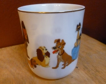 Disney Lady and the Tramp mug Disneyland Walt Disney World