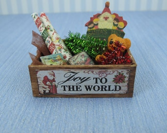 Gaël Miniature  Vintage Christmas box full of toys  Dollhouse Miniature child game Accessory toy, Handmade