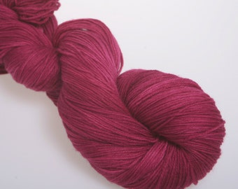 Sock Yarn 'SANGRIA' -  Hand dyed Sock Yarn, Wool Yarn Lace  4 ply   100g