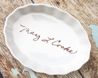 Personalized gift for her, Personalized Wedding Gift, Custom Pottery, Kitchen Decor, Jewelry Dish, Personalized Bridesmaid gift, Memorial
