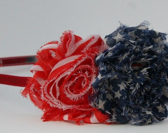 Stars and Stripes Headband - Military Support Headband - 4th of July - Adult Headband - Teen Headband - Support the Troops - READY TO SHIP