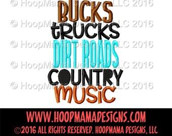 Bucks Trucks, Dirt Roads, Country Music, Country Shirt, Boy Summer Shirt