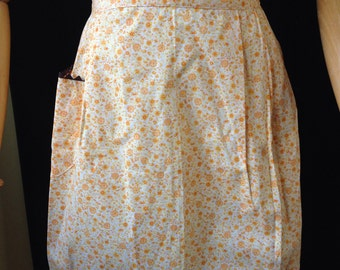 Vintage - Calico - Apron - Yellow and  Orange